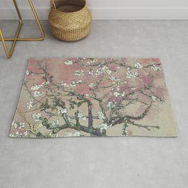 Almond Blossom - Vincent Van Gogh (pink pastel and cream) Rug