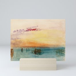 William Turner - The Lagoon near Venice at Sunset Mini Art Print
