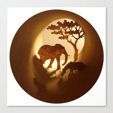 Africa (Afrique) Canvas Print