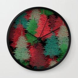 Christmas Tree Folly Wall Clock