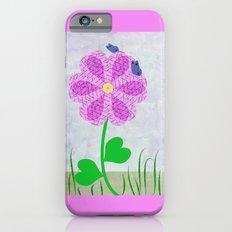 Une fleur avec deux papillons Slim Case iPhone 6s