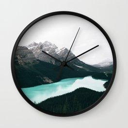 Peyto Lake Wall Clock