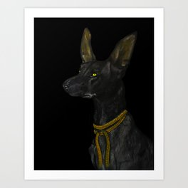 Egyptian Dog Art Print