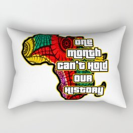 One Month Can't Hold Our History African Collage Rectangular Pillow