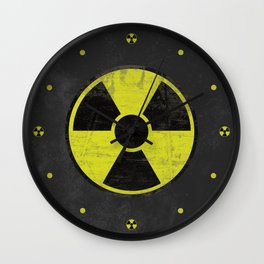 Grunge Radioactive Sign Wall Clock