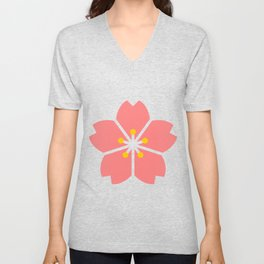 Cherry Blossom Flowers Unisex V-Neck