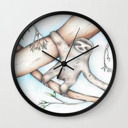 Hanging Sloth Wall Clock