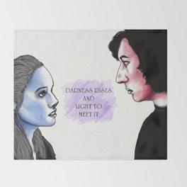 Reylo: Light and Dark Throw Blanket