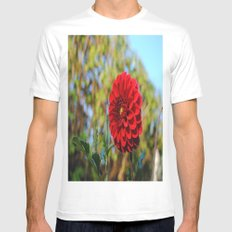 Dahlia SMALL White Mens Fitted Tee