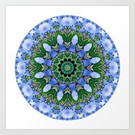Blue Iris Mandala Art Print
