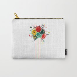Knitting Yarn Balls and Needles Carry-All Pouch