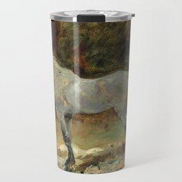 """Henri de Toulouse-Lautrec """"Cheval attaché"""" Travel Mug"""