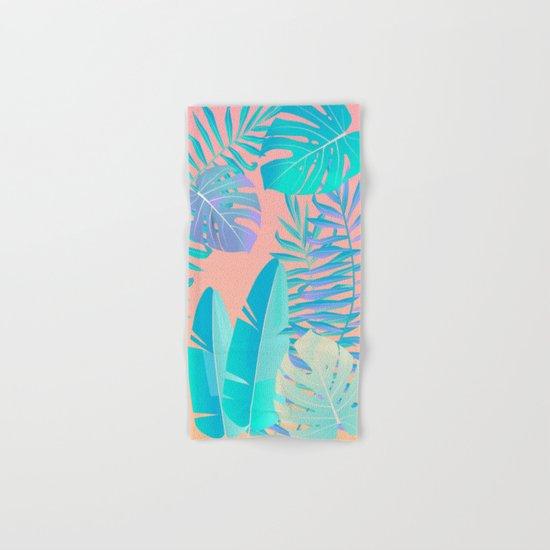 Tropics ( monstera and banana leaf pattern ) Hand & Bath Towel
