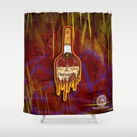 lebron Shower Curtains featuring Ode to France by SaintCastro