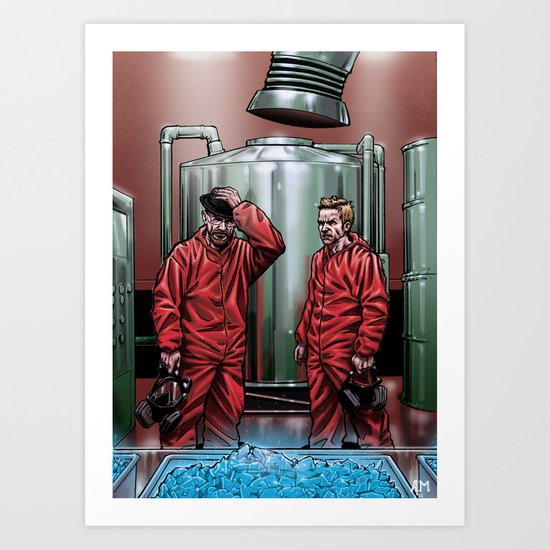 Blue Meth Art Print