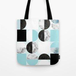 Mid Modern Moon and Sun Geometric Pattern - blue Tote Bag