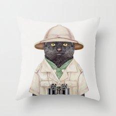 Safari Cat Throw Pillow