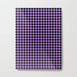 Black and Lavender Violet Diamonds Metal Print