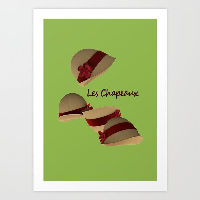 Les Chapeaux Art Print