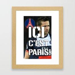 Ici c'est Paris! colors urban fashion culture Jacob's 1968 Paris Agency for Cabaye psg supporters Framed Art Print