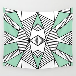 Triangle Tribal Mint Wall Tapestry