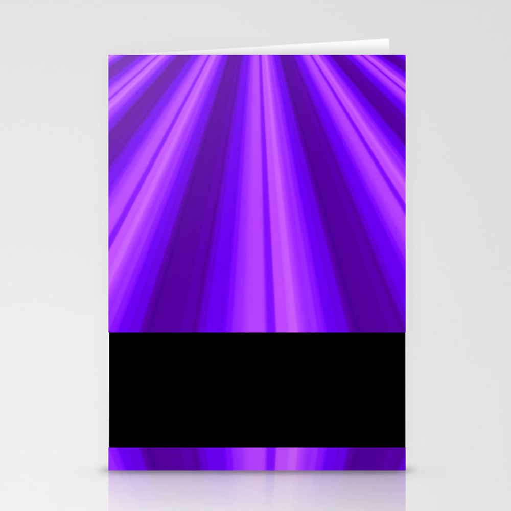 Shades Of Purple Rays Stationery Cards by 11penguingirl CRD8383985