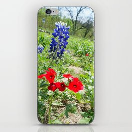 Texas Wildflowers iPhone Skin