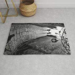 Fooled Around and Fell in Love, Florence, Italy 2014 romantic black and white photography / photograph Rug