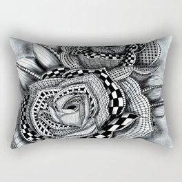 Tattoo Rose Greyscale Rectangular Pillow