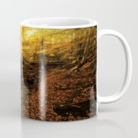 denmark Mugs featuring Forest Haslev, Denmark - Autumn by by Henrik Wulff Petersen (zoomphoto)
