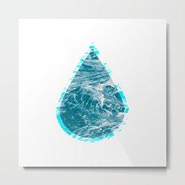 ocean raindrop II Metal Print