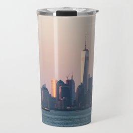New York City Summer Sunset Skyline Travel Mug