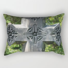 Gothic Style Christian Cross Headstone Old Holy Trinity Church in Wentworth  Rectangular Pillow