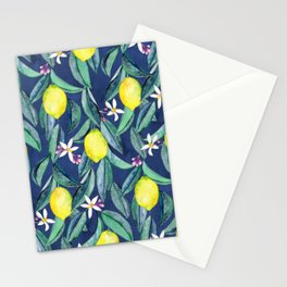 When Life Gives You Lemons - blue Stationery Cards