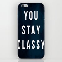 classy iPhone & iPod Skins featuring CLASSY by Chrisb Marquez