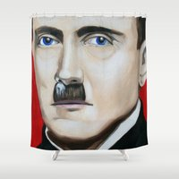 cocaine Shower Curtains featuring Line by Matthew Lake