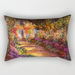 Garden Path at Giverny - Claude Monet 1902 Rectangular Pillow