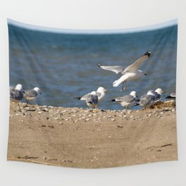 Landing | Seagull Photography Wall Tapestry