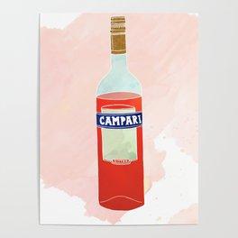 I Love Campari - Liquor Bottle Bar Print Poster