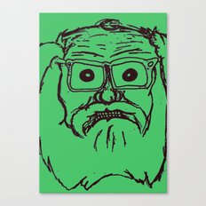 Allen ginsberg in green Canvas Print