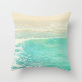 Beach wave photograph. Surge Throw Pillow