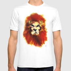 Lion ink Mens Fitted Tee White SMALL
