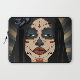 Mexican girl in tattoo style with traditional make-up Laptop Sleeve