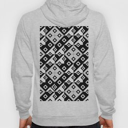 Diagonal squares in black and white Hoody