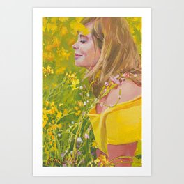 Vanessa In The Mustards Art Print