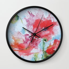 Poppies 04 Wall Clock