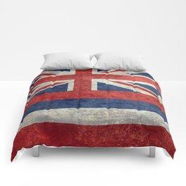 Flag of Hawaii, Retro Vintage Comforters