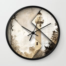 New Presque Isle Lighthouse art Wall Clock