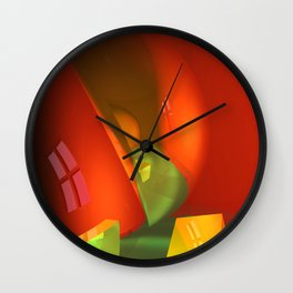 crooked room -3- Wall Clock