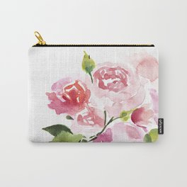Peonies Floral Watercolor Painting by Tzechee Carry-All Pouch